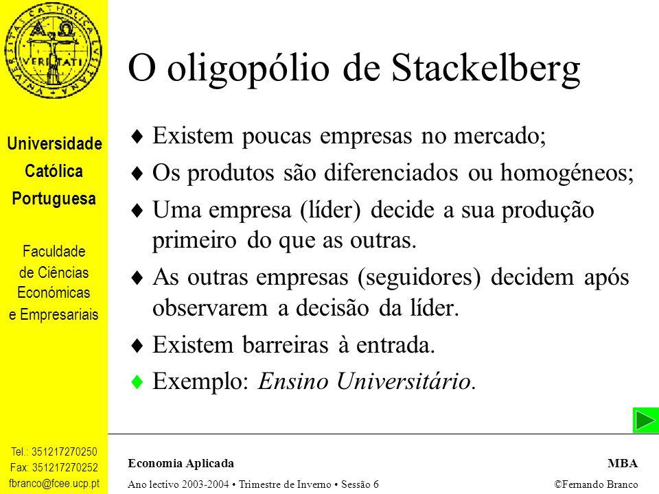 O oligopólio de Stackelberg