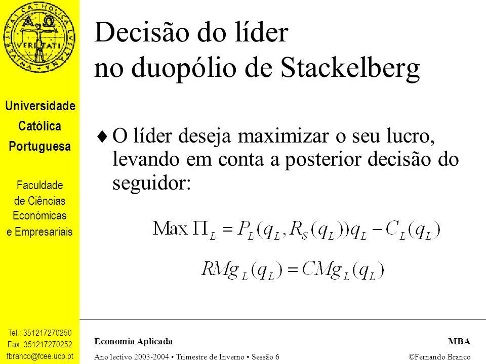 Decisão do líder no duopólio de Stackelberg