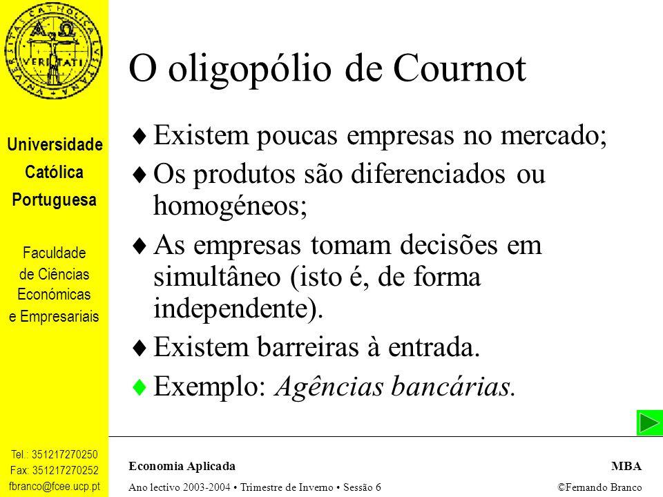 O oligopólio de Cournot