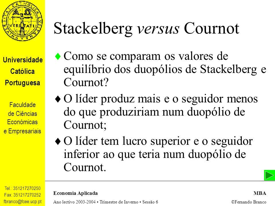 Stackelberg versus Cournot