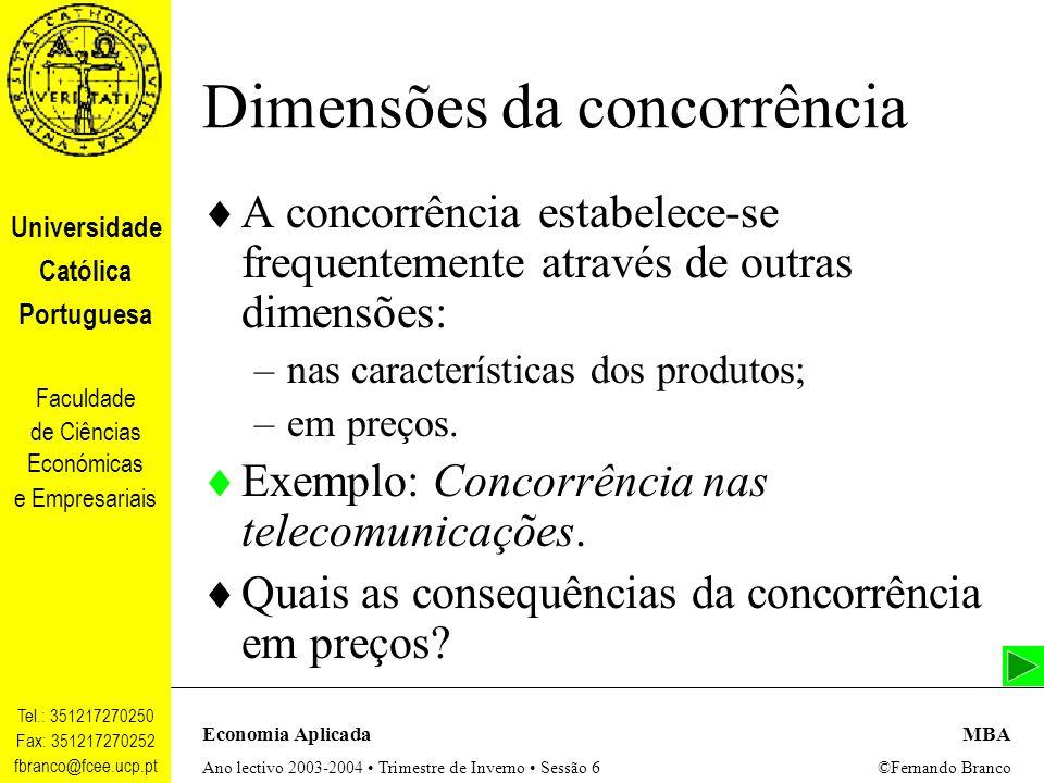 Dimensões da concorrência