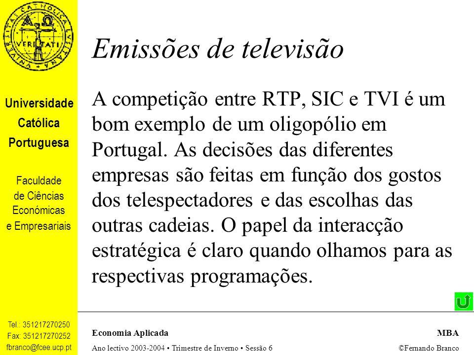 Emissões de televisão