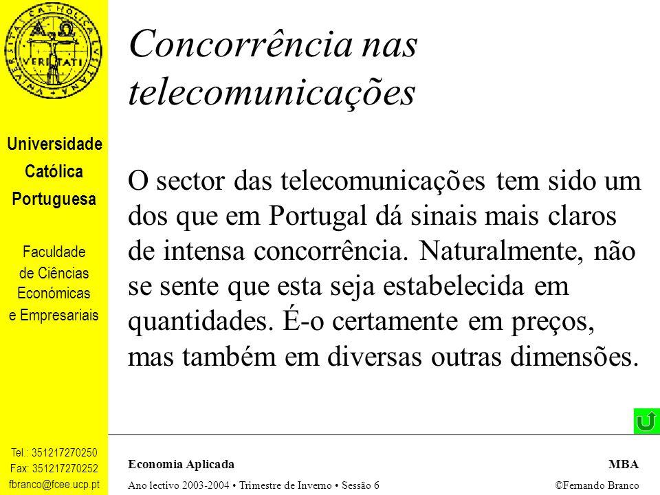 Concorrência nas telecomunicações