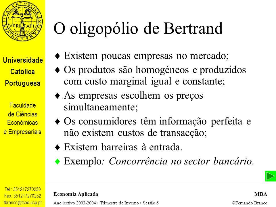 O oligopólio de Bertrand
