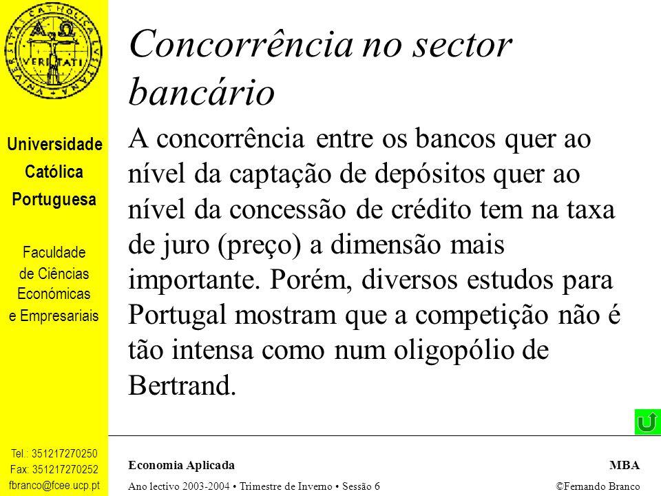 Concorrência no sector bancário