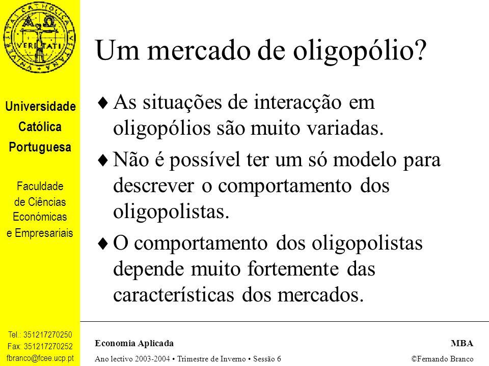Um mercado de oligopólio