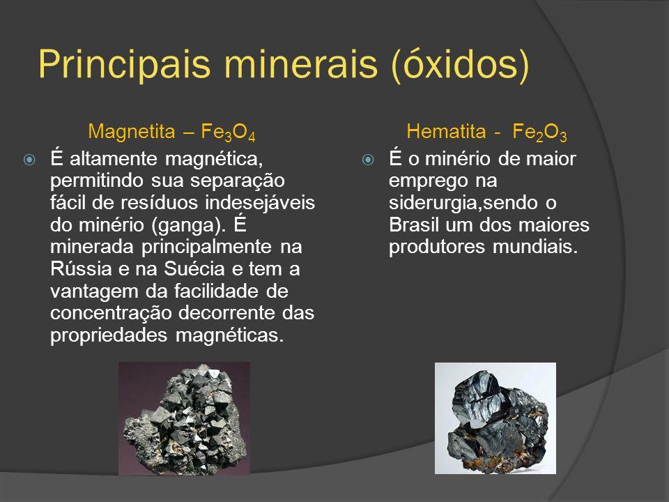 Principais minerais (óxidos)