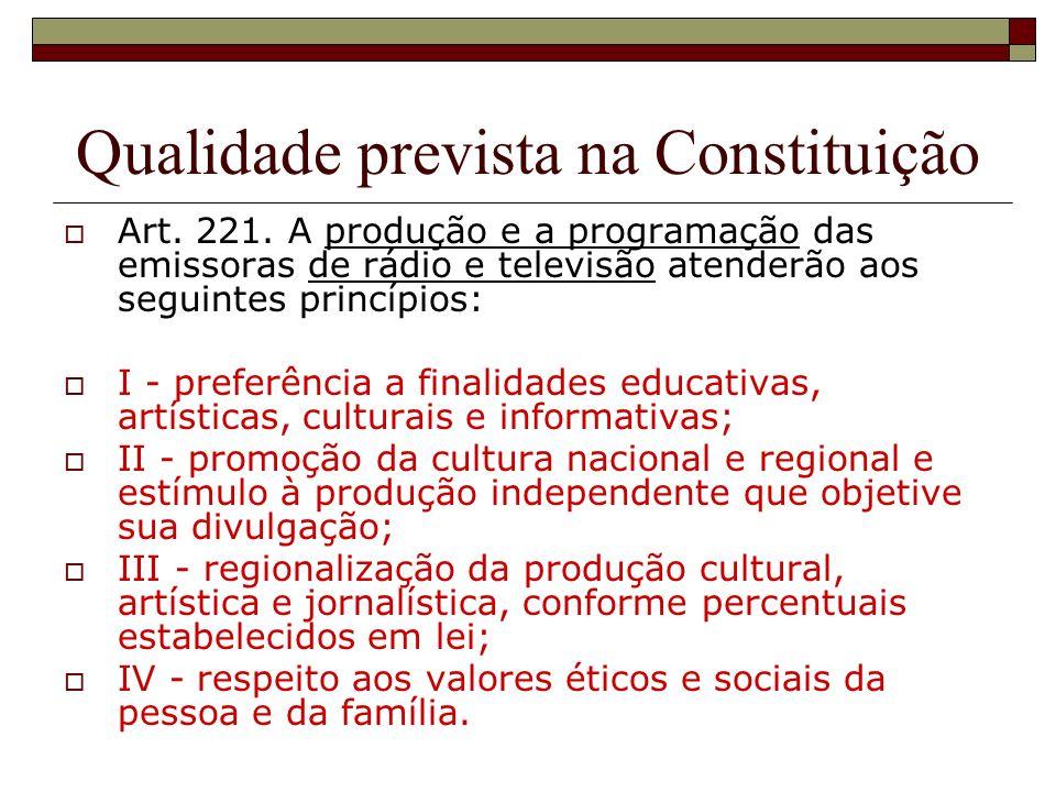 Qualidade prevista na Constituição