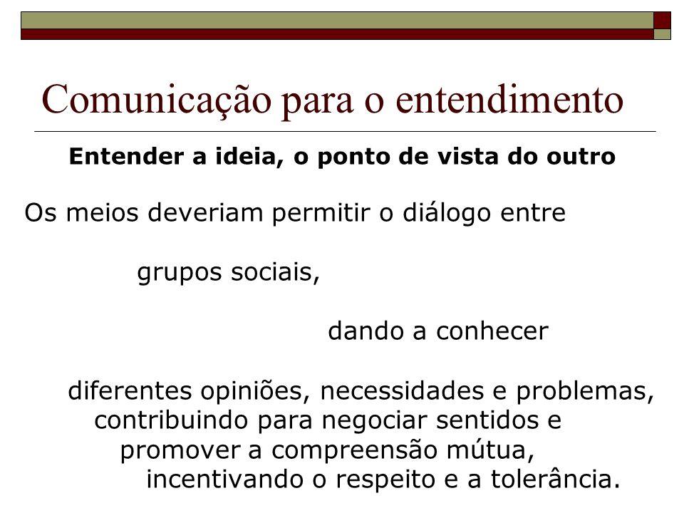Comunicação para o entendimento