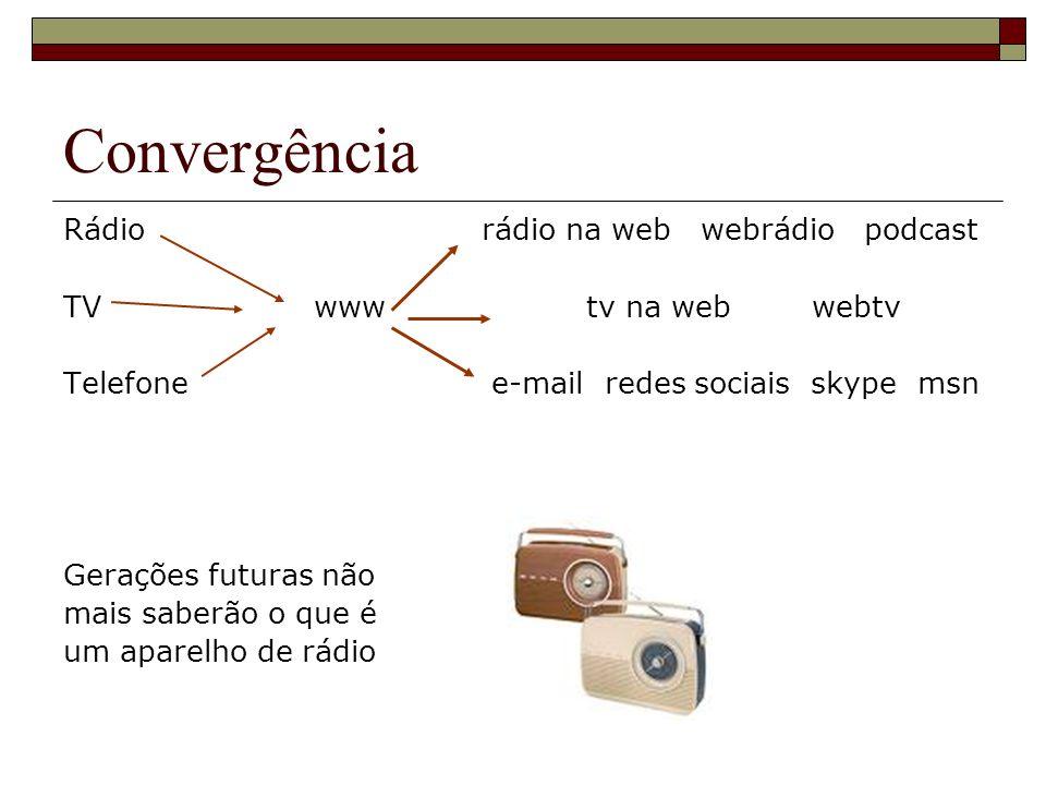 Convergência Rádio rádio na web webrádio podcast