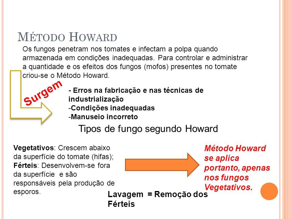Tipos de fungo segundo Howard