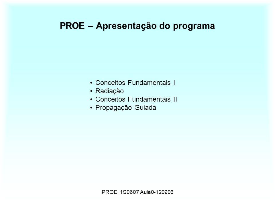PROE – Apresentação do programa
