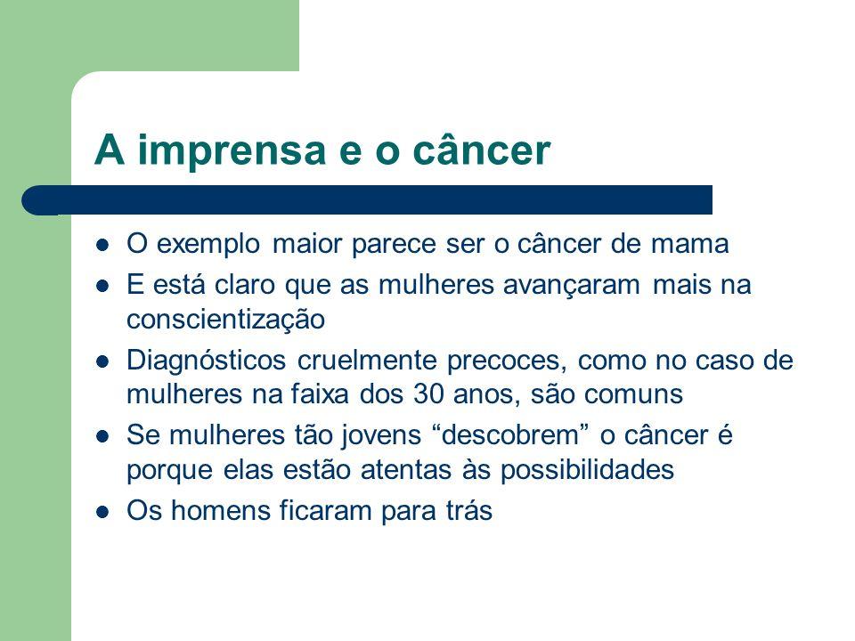 A imprensa e o câncer O exemplo maior parece ser o câncer de mama
