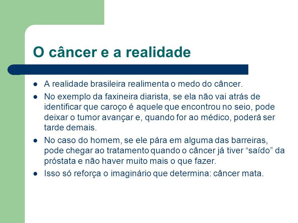 O câncer e a realidade A realidade brasileira realimenta o medo do câncer.