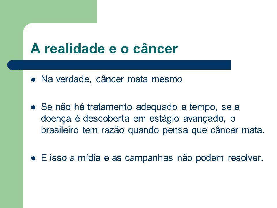 A realidade e o câncer Na verdade, câncer mata mesmo