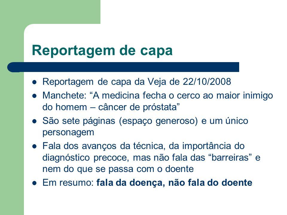 Reportagem de capa Reportagem de capa da Veja de 22/10/2008