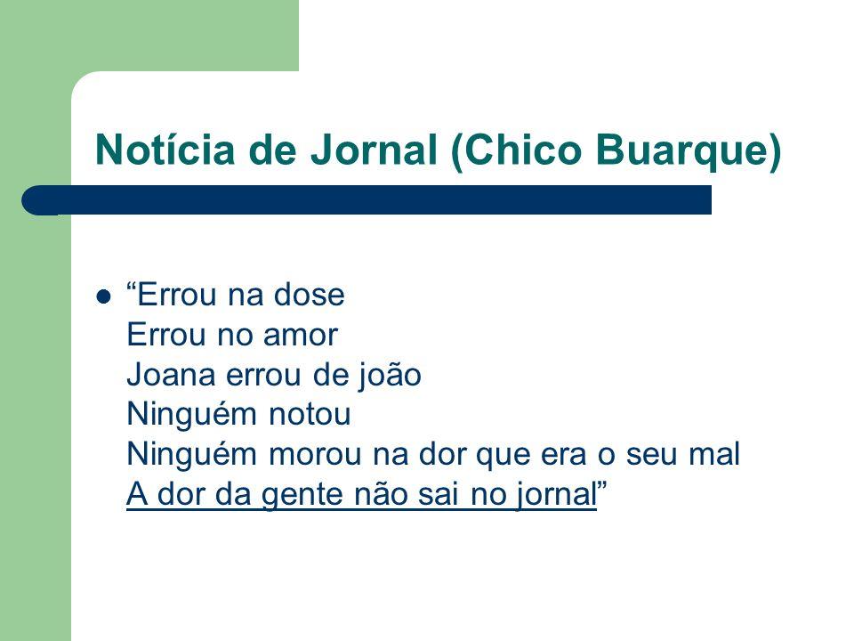 Notícia de Jornal (Chico Buarque)