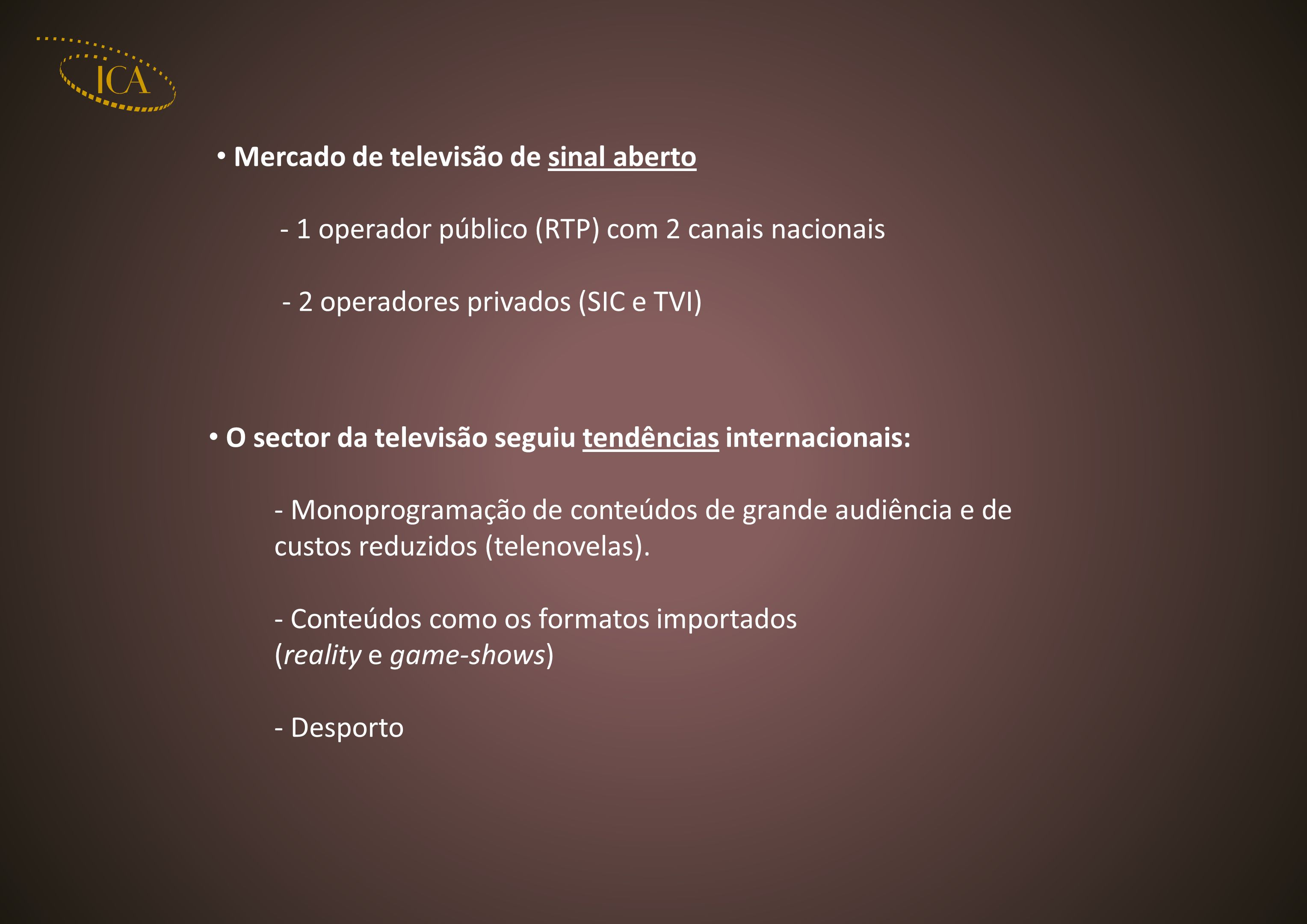 Mercado de televisão de sinal aberto