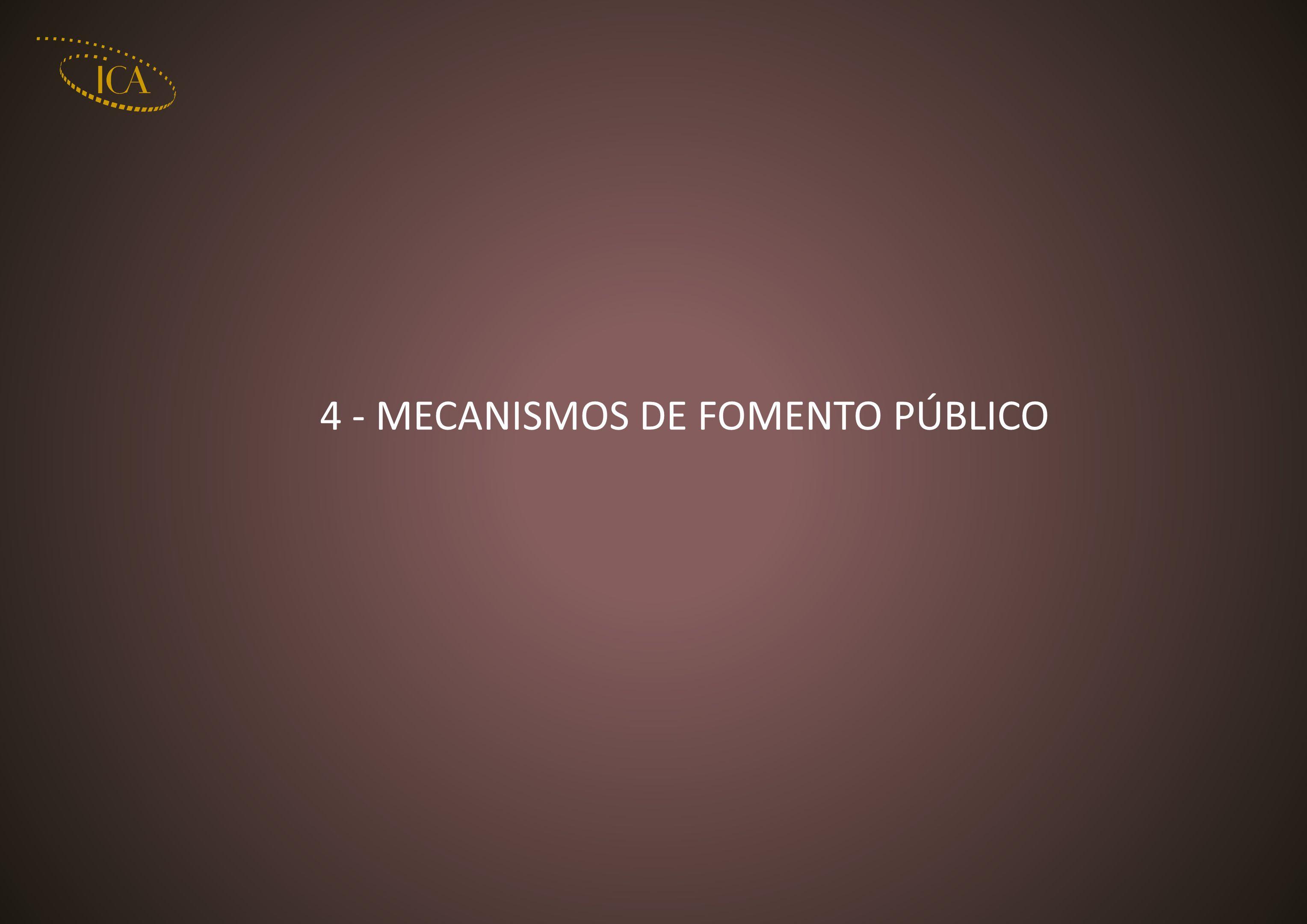 4 - MECANISMOS DE FOMENTO PÚBLICO