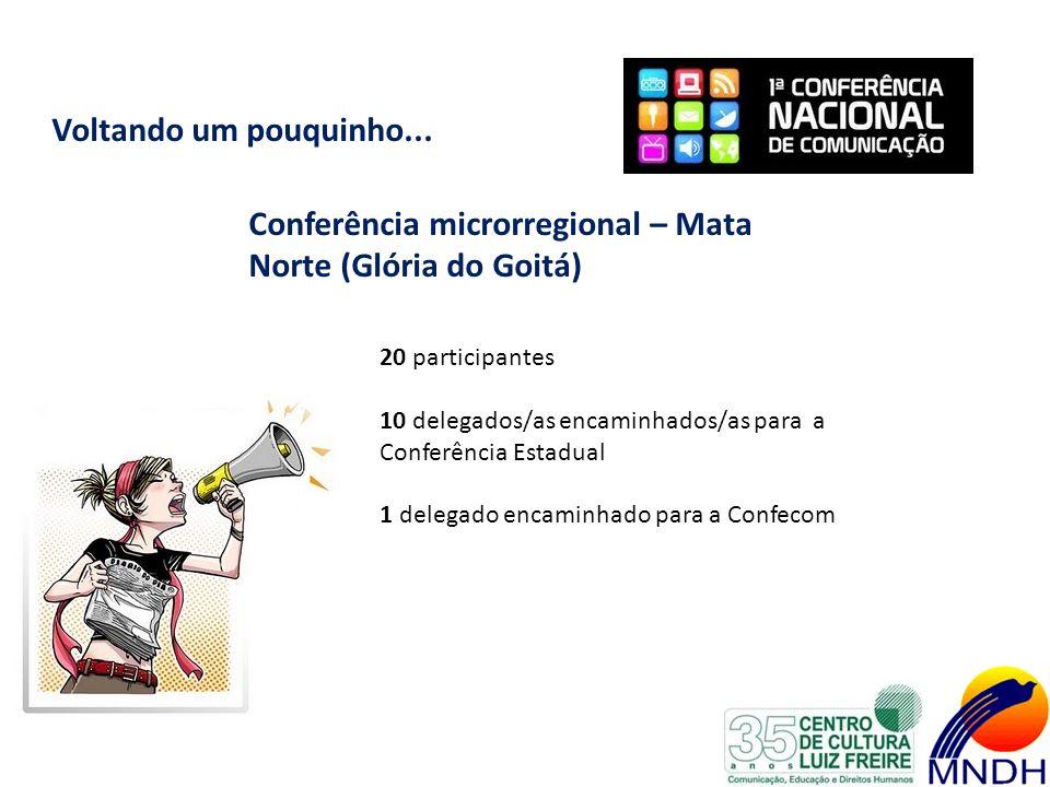 Conferência microrregional – Mata Norte (Glória do Goitá)