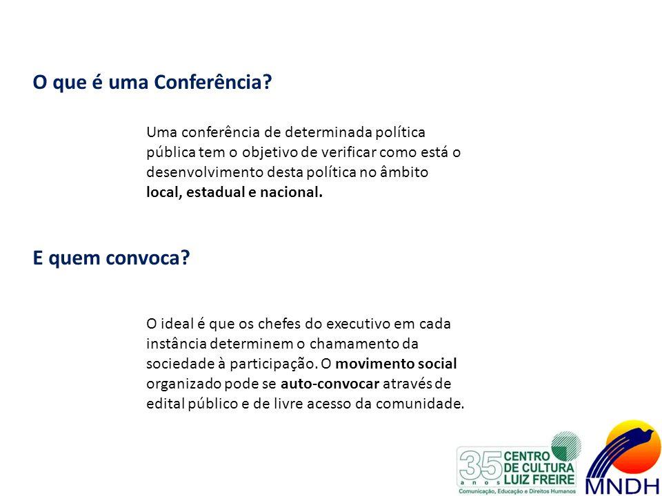 O que é uma Conferência E quem convoca