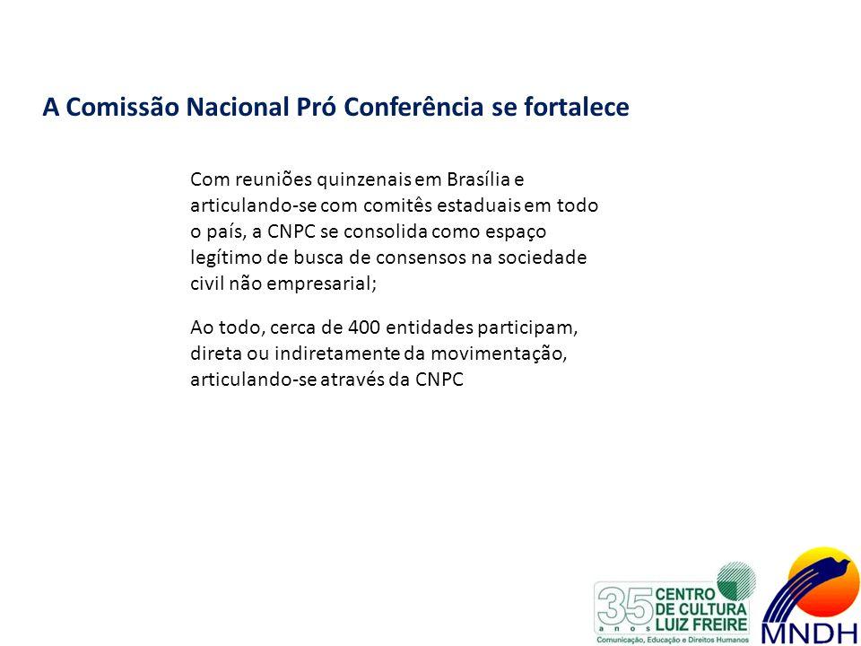 A Comissão Nacional Pró Conferência se fortalece