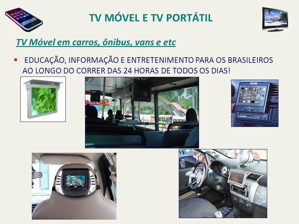 TV MÓVEL E TV PORTÁTIL TV Móvel em carros, ônibus, vans e etc