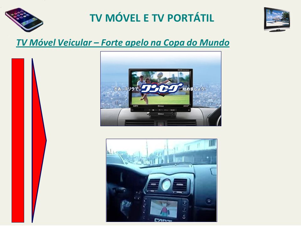 TV MÓVEL E TV PORTÁTIL TV Móvel Veicular – Forte apelo na Copa do Mundo