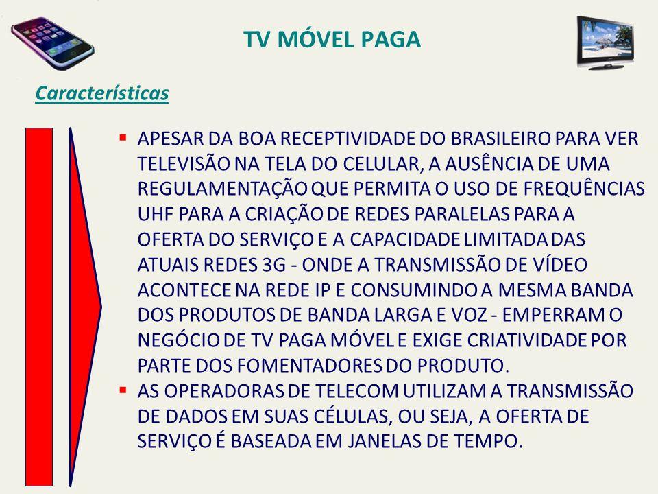 TV MÓVEL PAGA Características