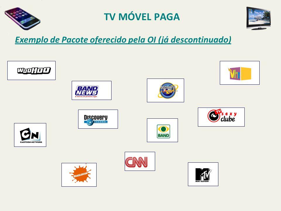 TV MÓVEL PAGA Exemplo de Pacote oferecido pela OI (já descontinuado)
