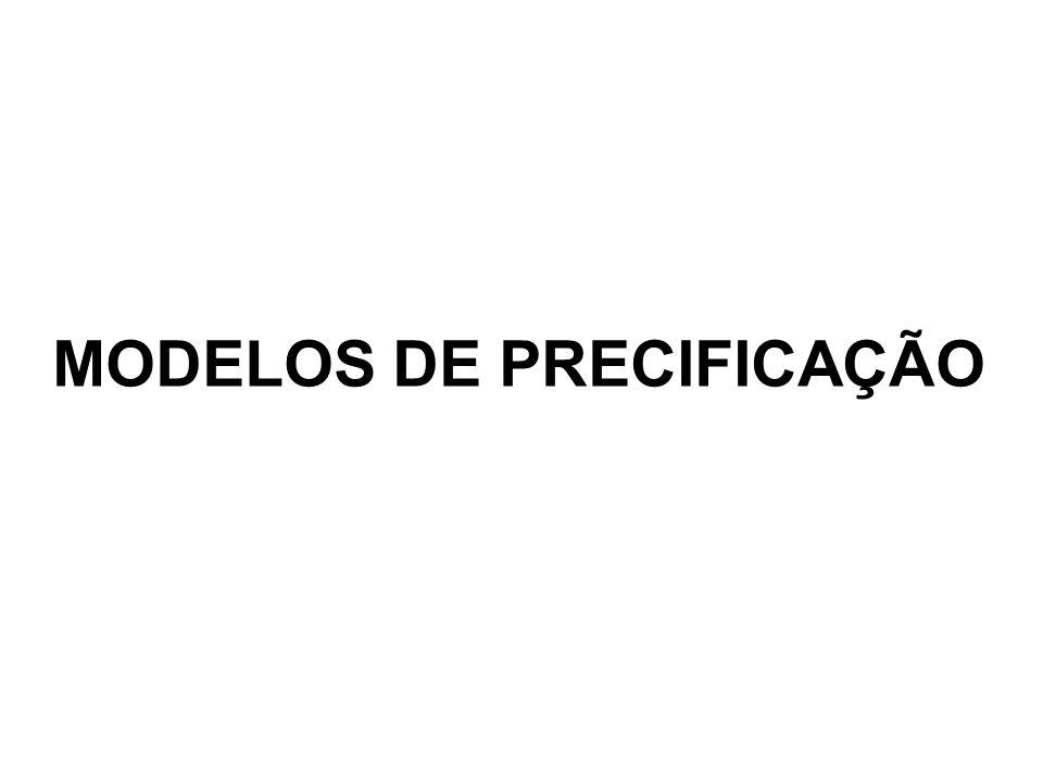 MODELOS DE PRECIFICAÇÃO