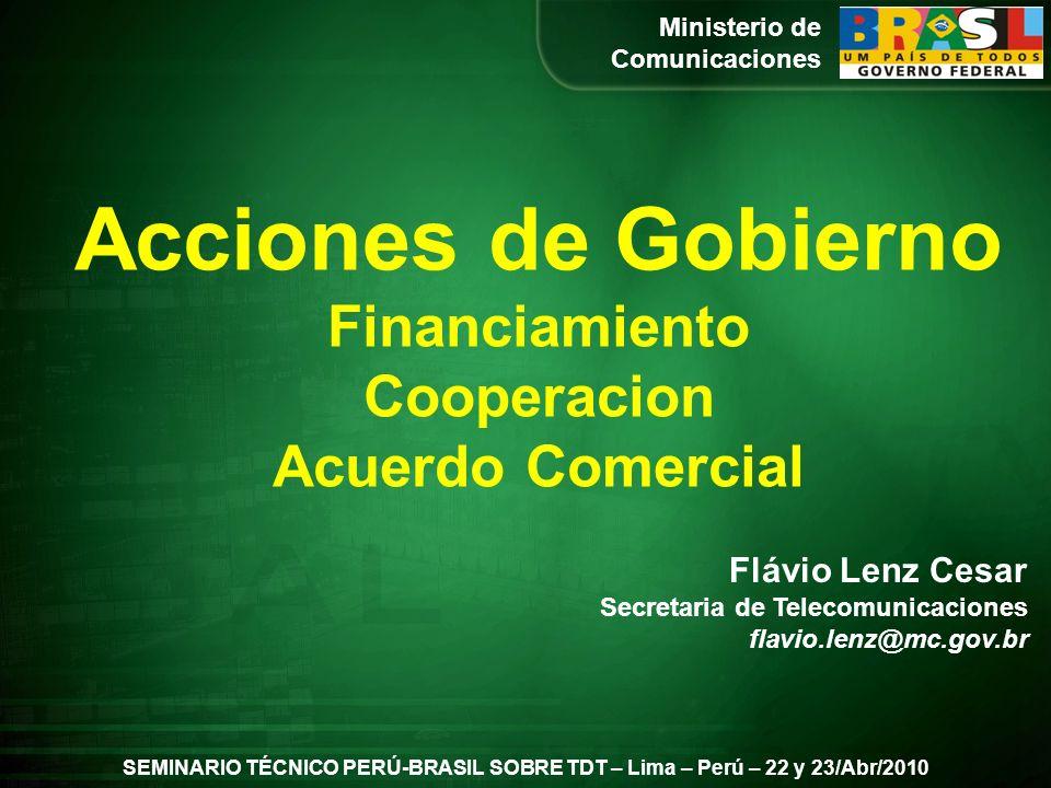 Acciones de Gobierno Financiamiento Cooperacion Acuerdo Comercial
