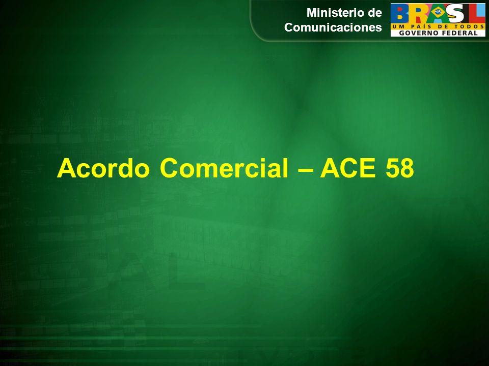 Acordo Comercial – ACE 58