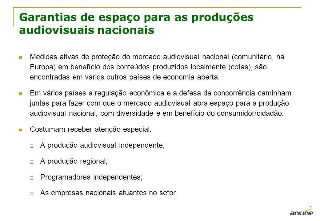 Garantias de espaço para as produções audiovisuais nacionais