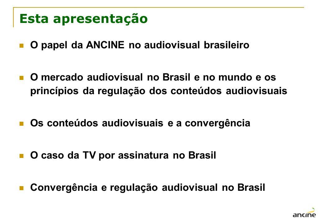Esta apresentação O papel da ANCINE no audiovisual brasileiro