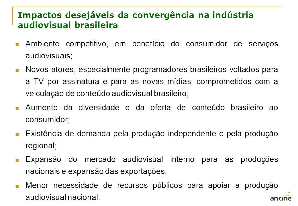 Impactos desejáveis da convergência na indústria audiovisual brasileira