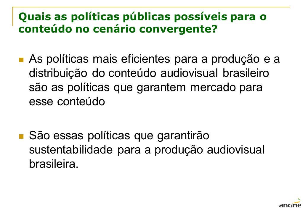 Quais as políticas públicas possíveis para o conteúdo no cenário convergente