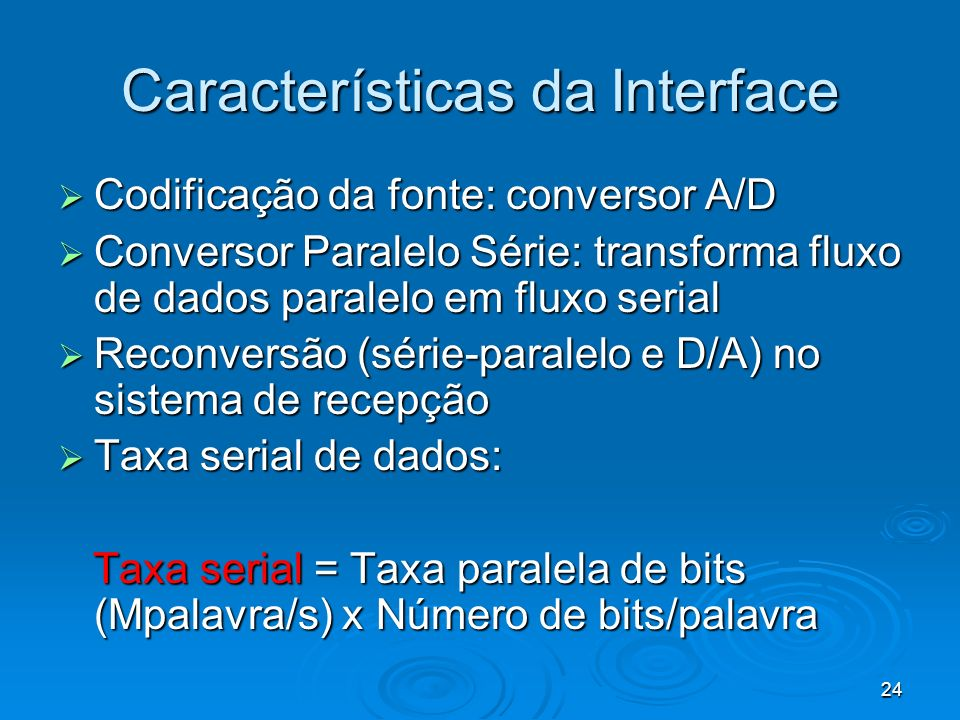 Características da Interface