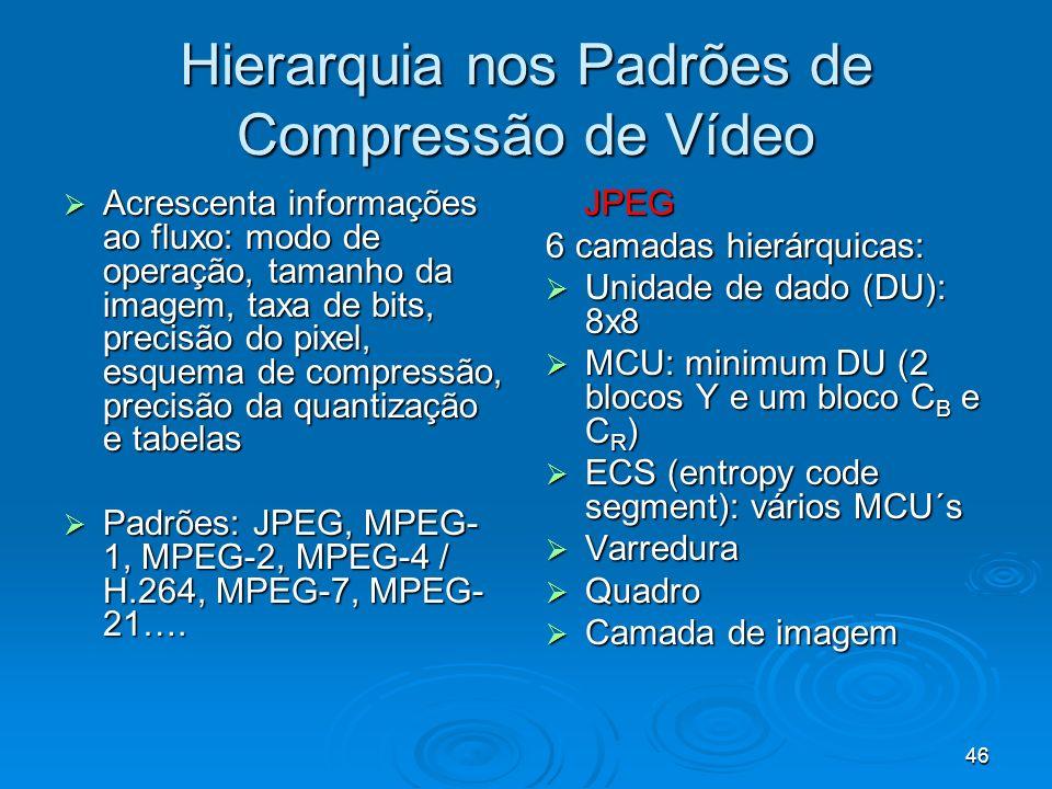 Hierarquia nos Padrões de Compressão de Vídeo