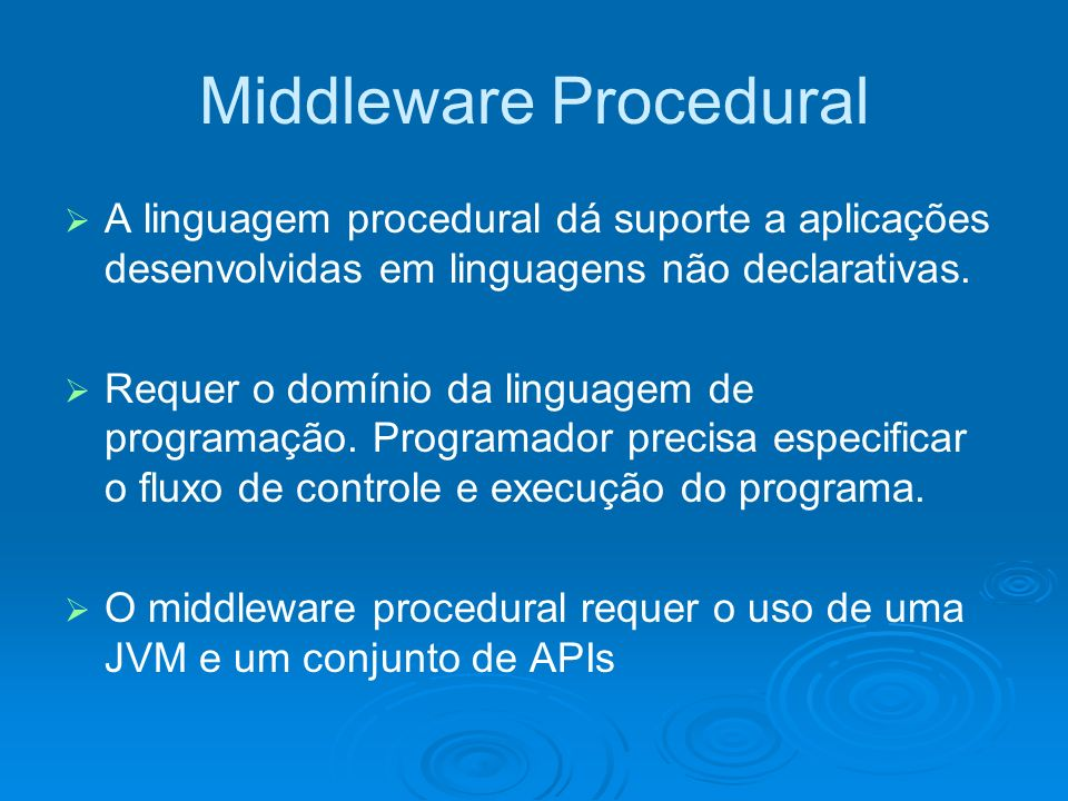 Middleware Procedural