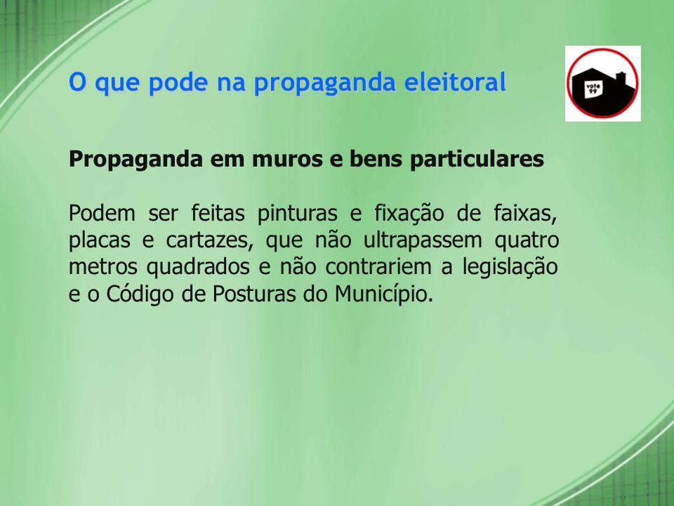 O que pode na propaganda eleitoral