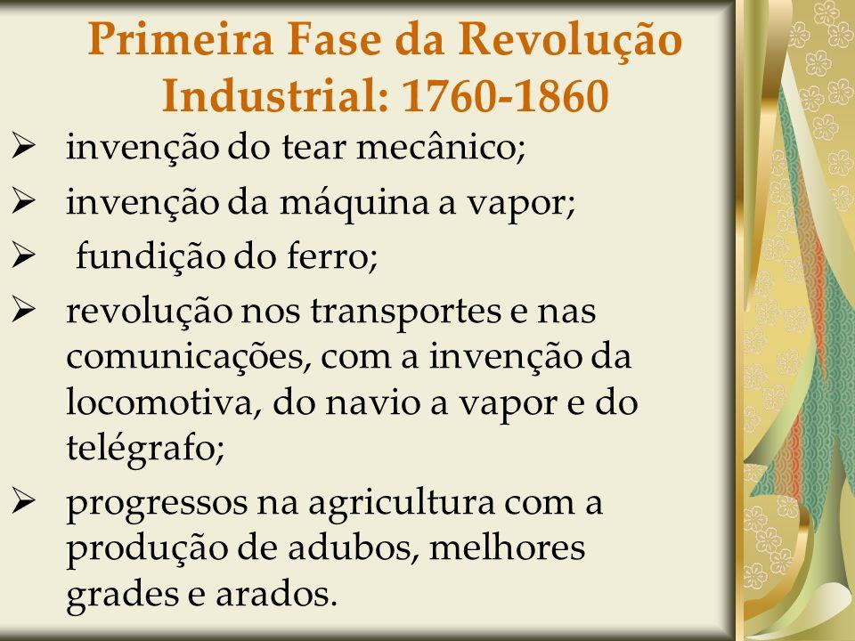 Primeira Fase da Revolução Industrial: 1760-1860