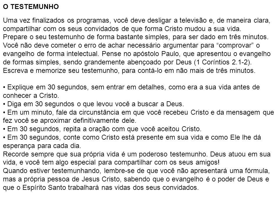 O TESTEMUNHO