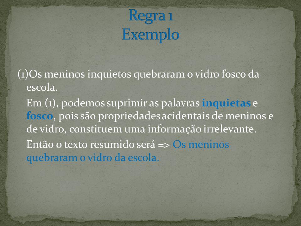Regra 1 Exemplo