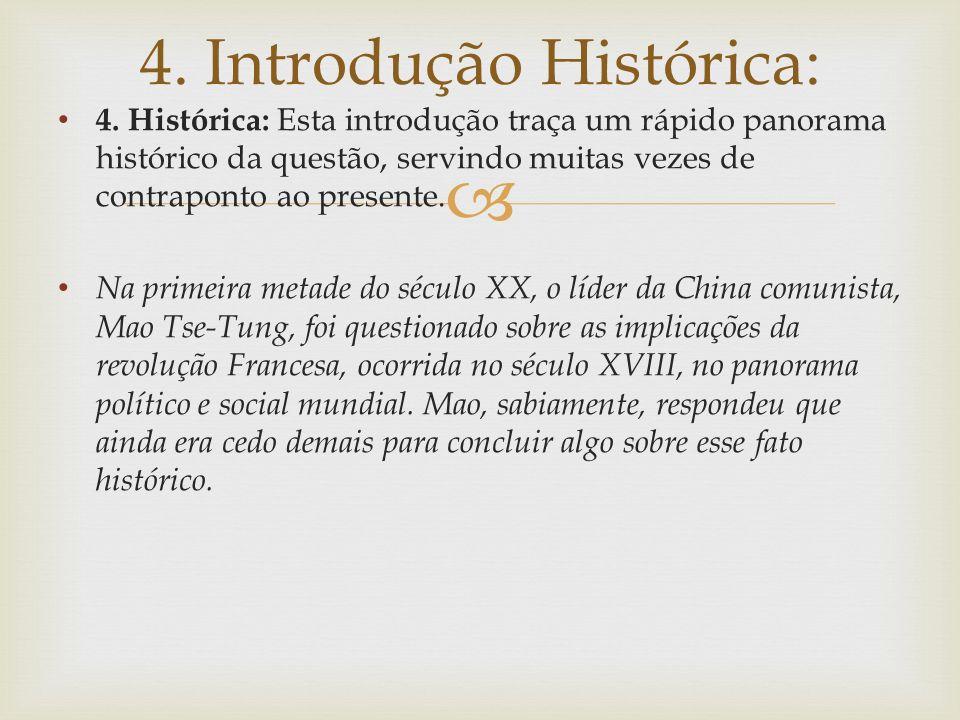 4. Introdução Histórica: