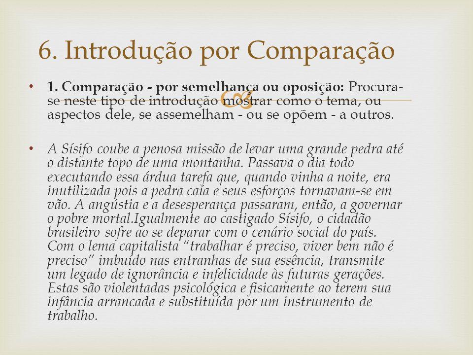 6. Introdução por Comparação