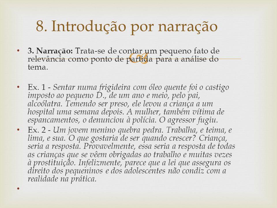 8. Introdução por narração