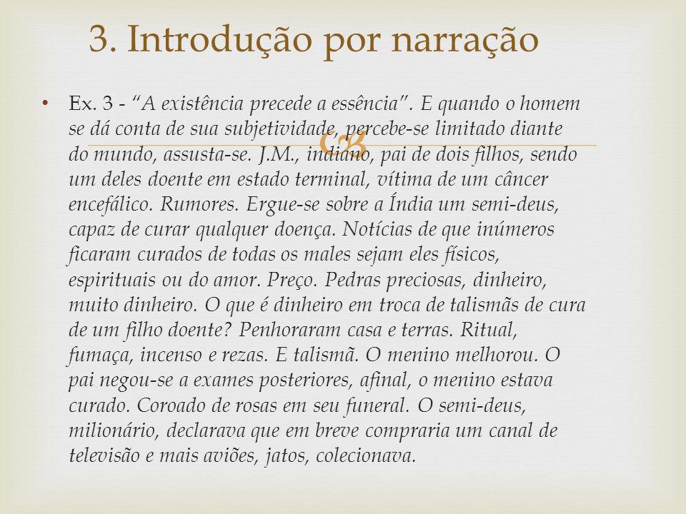 3. Introdução por narração