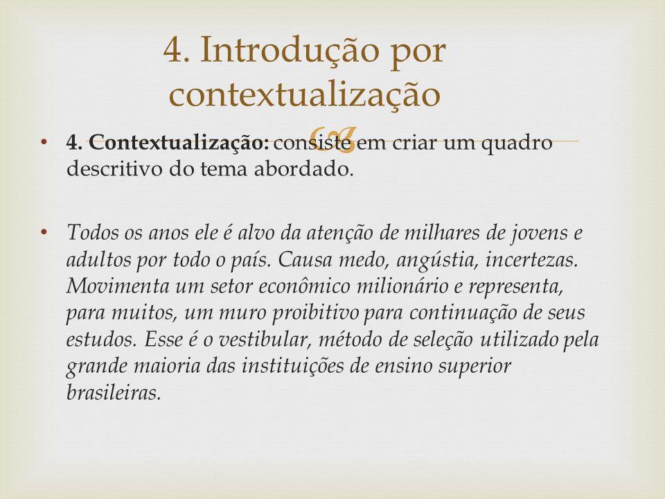 4. Introdução por contextualização