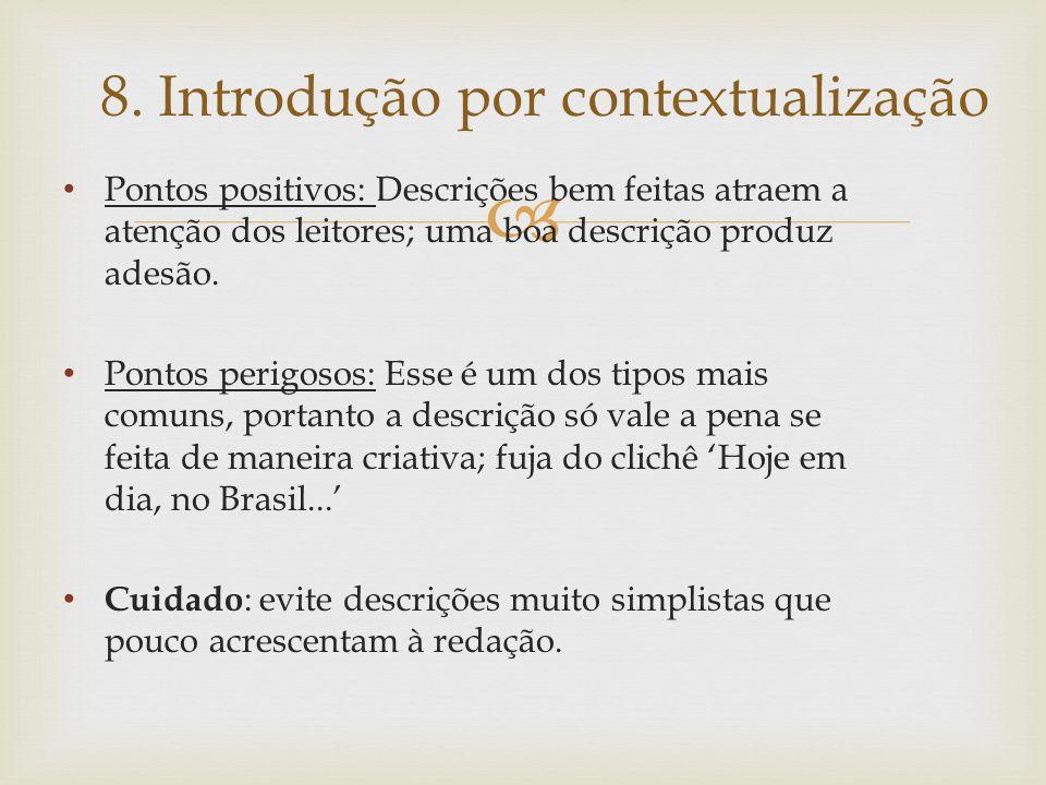 8. Introdução por contextualização